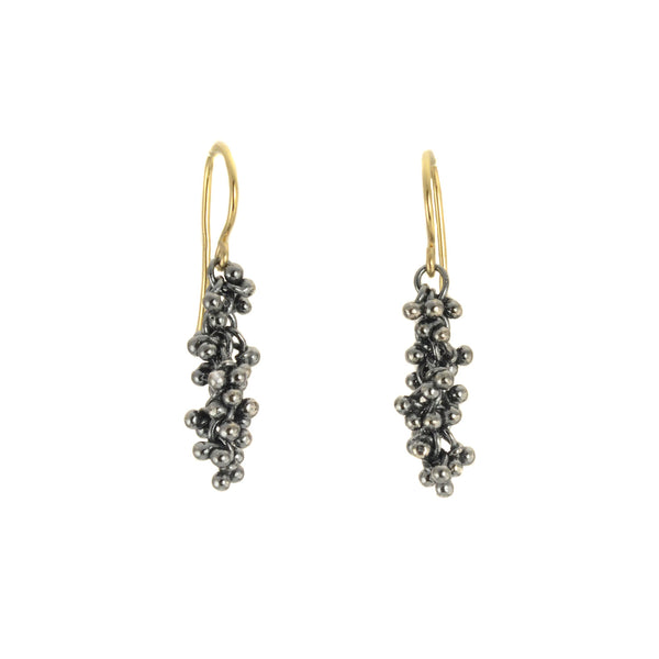 Caviar Granulation Dangle Earrings by Magally Lopez