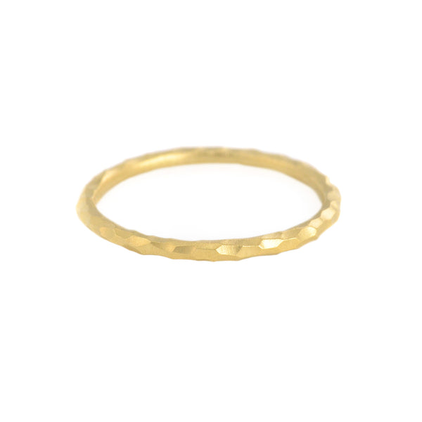 NEW! Yellow Gold Facet Band by Sarah Swell