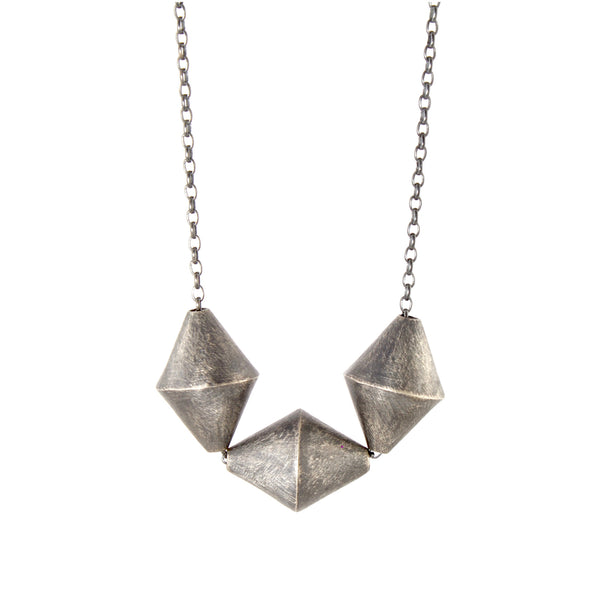 Triple Bicone Necklace by Heather Guidero