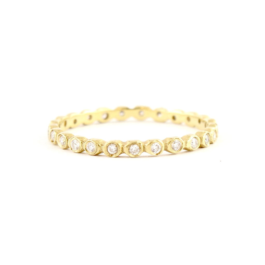 Dewdrop Diamond Band in Rose Gold (shown in yellow gold) by Dawes Design