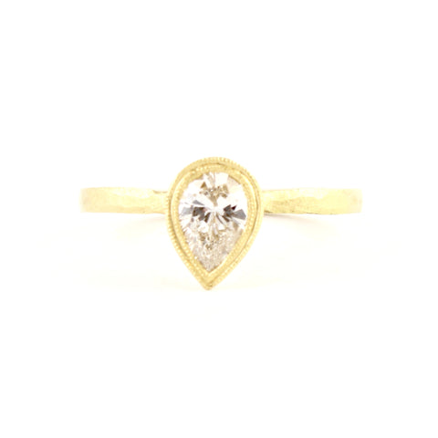 Etruscan Pear Diamond Ring by Dawes Design