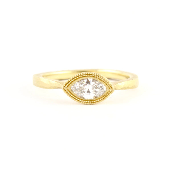 Etruscan Marquise Diamond Ring by Dawes Design