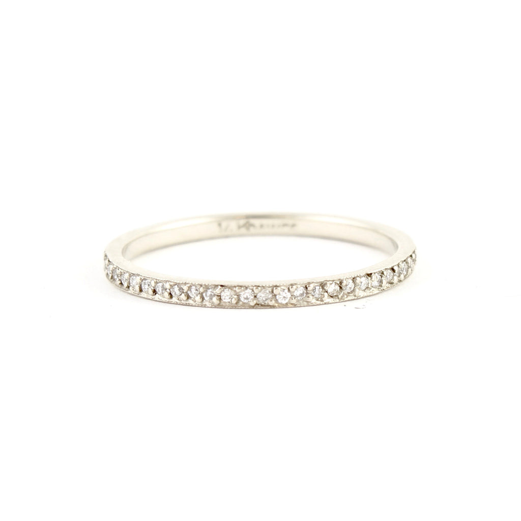 Stacking Pave Diamond Band by Dawes Design