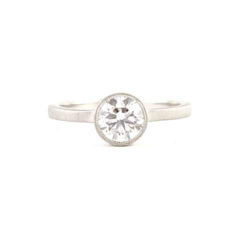 Etruscan Diamond Solitaire Ring by Dawes Design