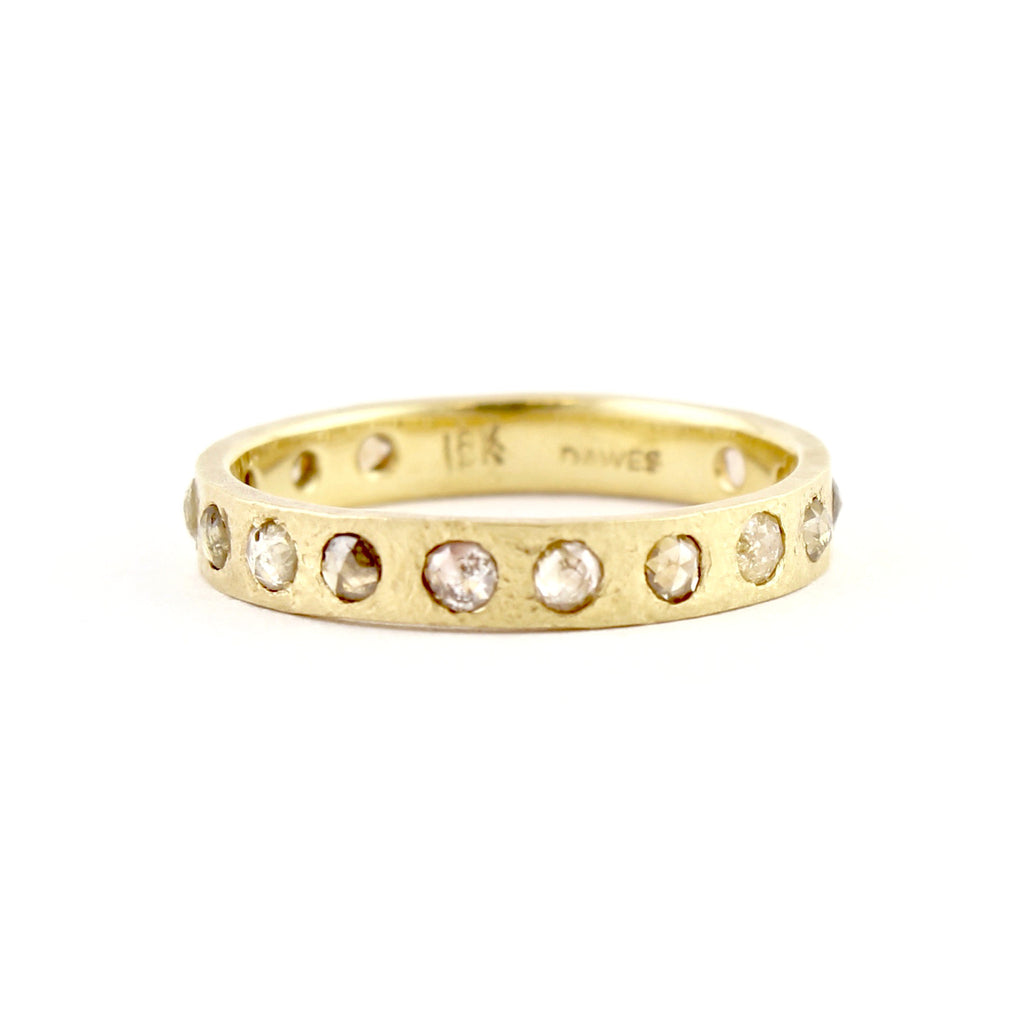 Hewn Eternity Opaque Diamond Band by Dawes Design