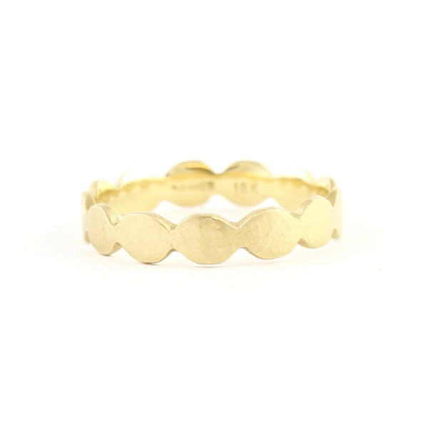 18k Dewdrop Medium Band by Dawes Design