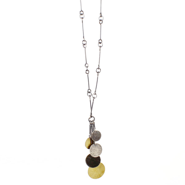 Hammered Five Disc Necklace by Lisa Crowder