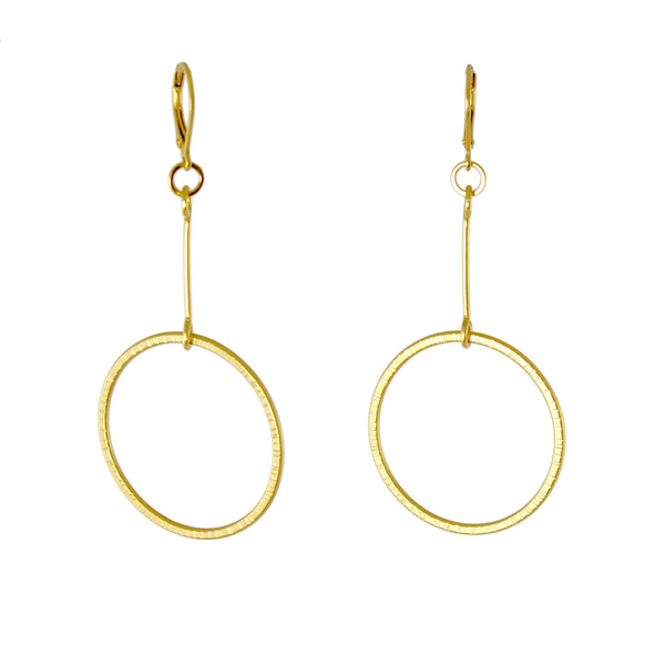 Hatch Loop Earrings by Lisa Crowder