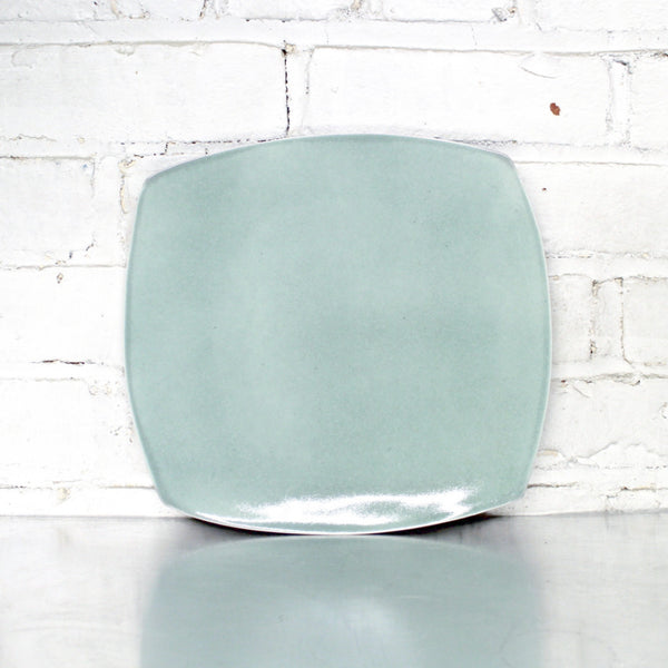 Celadon Square Dinner Plate by Eric Jensen