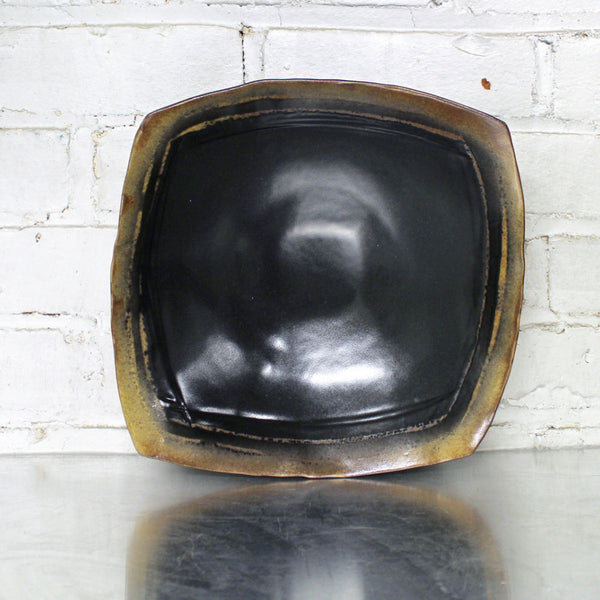Black Large Square Bowl by Eric Jensen