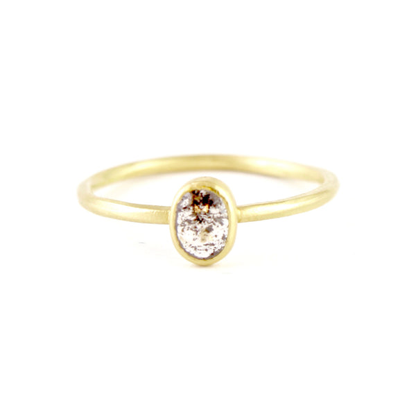 Salt & Pepper Diamond Solitaire Ring by Sarah Mcguire