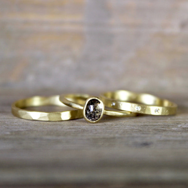 2mm Lightweight Faceted Band by Sarah Mcguire