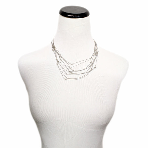 Short Line Segment Necklace by Meghan Patrice Riley