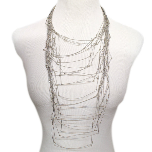 Maxi Line Segments Necklace by Meghan Patrice Riley