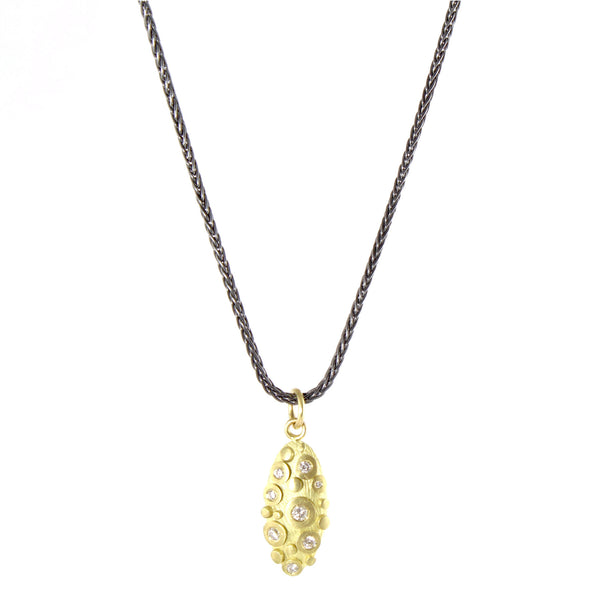 18k Disco with Diamonds Necklace by Dahlia Kanner