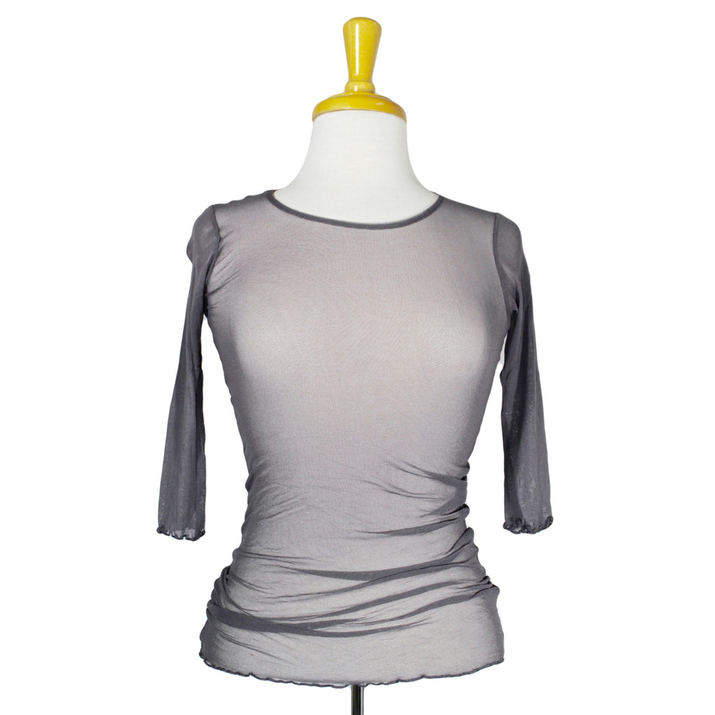 NEW! Short Sleeve Sleeve Gauzy Tee in Shale by Neesh D.A.R.