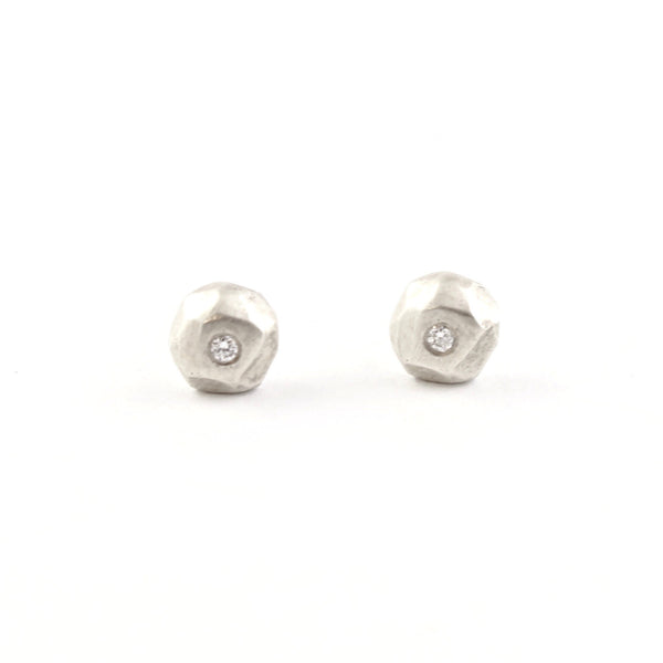 Mini Ore Studs by Sarah Swell - Fire Opal - 1