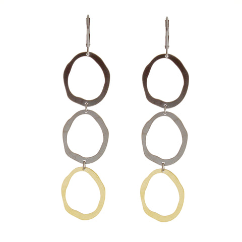 Rough Cut Double Drop Earrings by Lisa Crowder