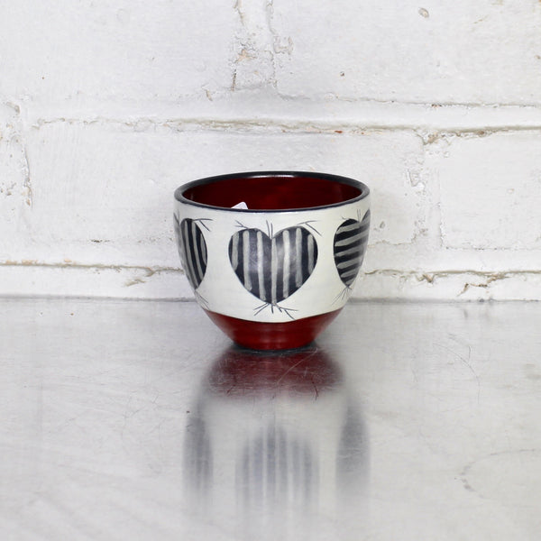 NEW! Illustrated Tea Bowl by Sally Jaffee - Red