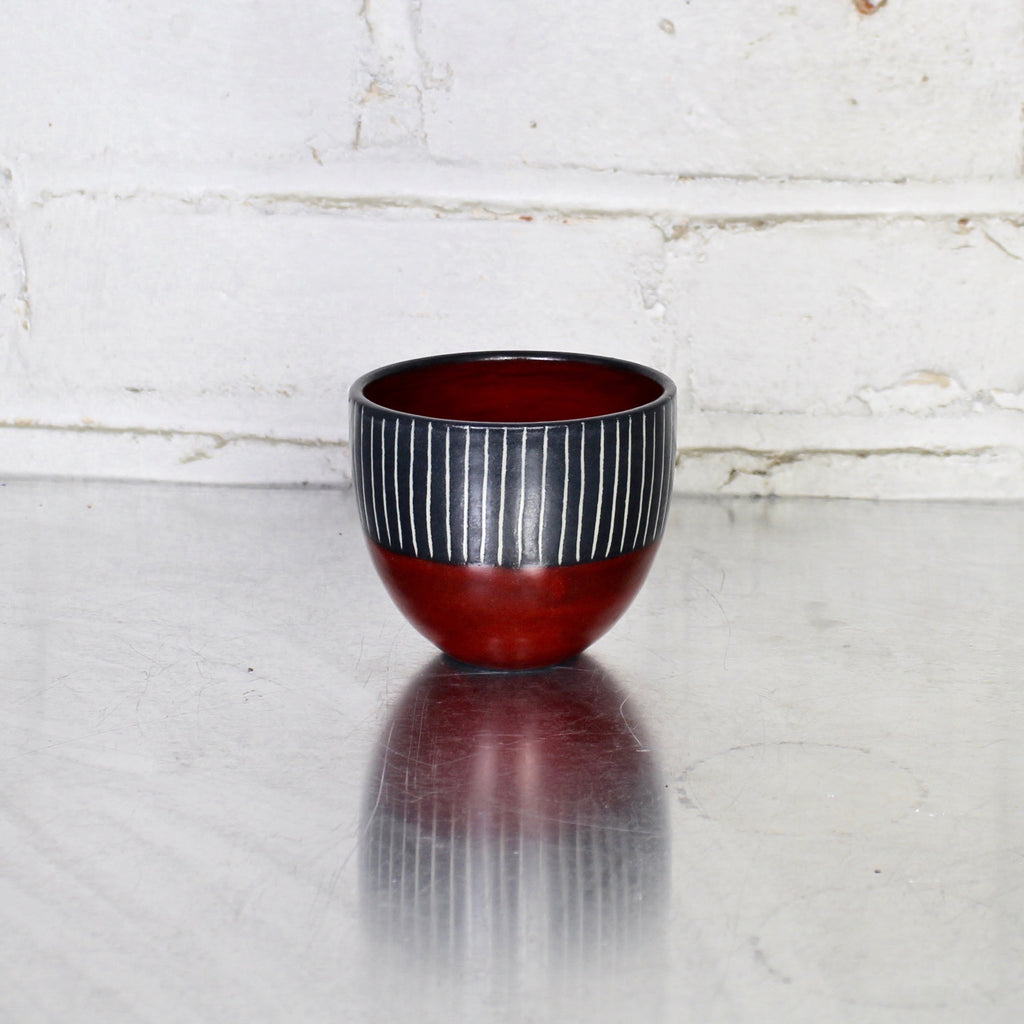 Simple Tea Bowl by Sally Jaffee - Red
