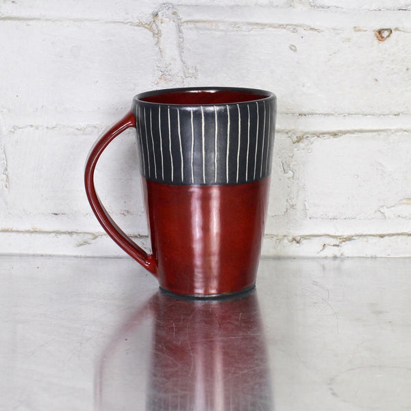 Simple Mug by Sally Jaffee in Red