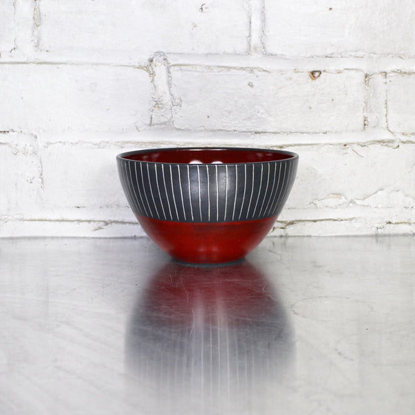 Simple Soup Bowl by Sally Jaffee - Red