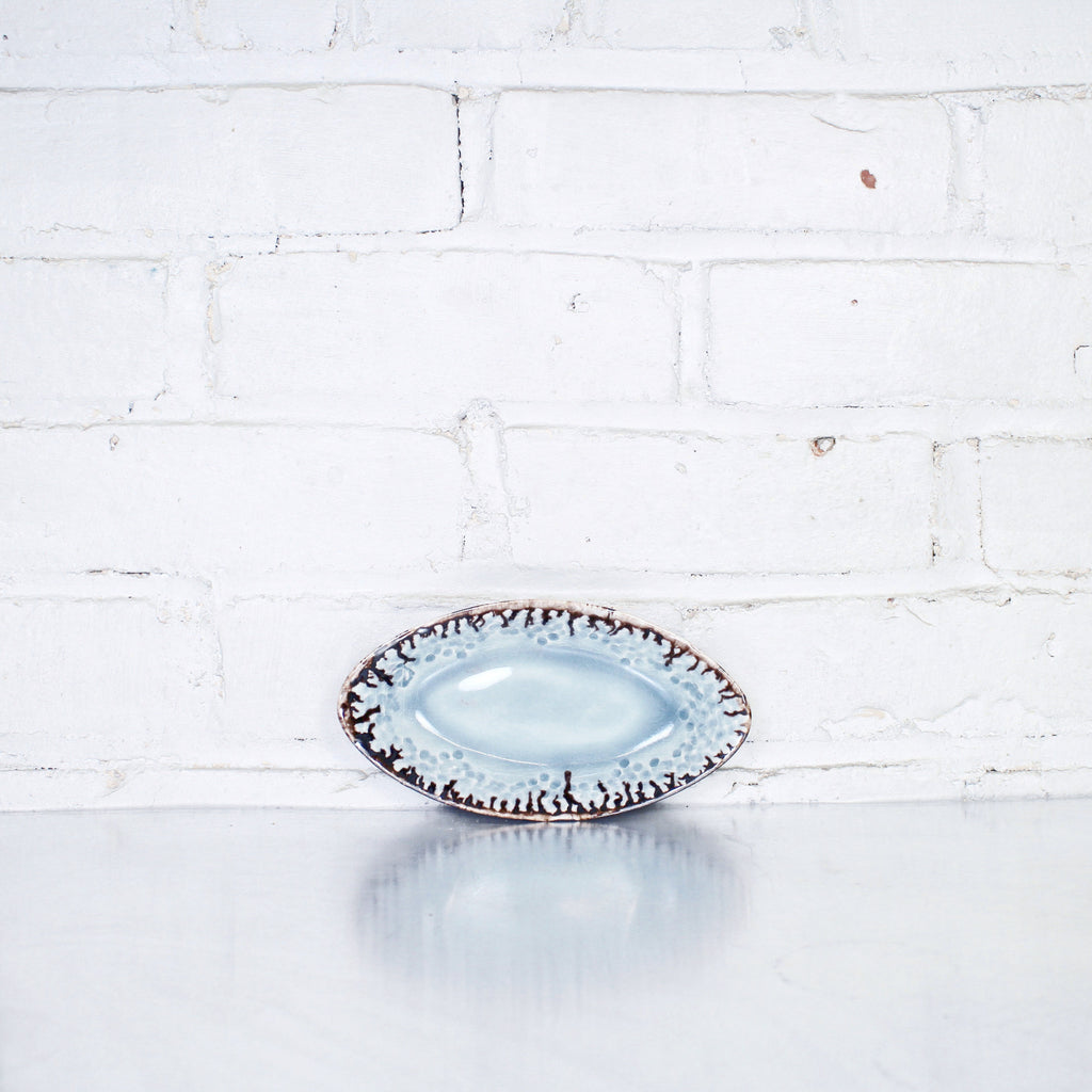 Small Oval Tray in Hurricane by Alice Goldsmith