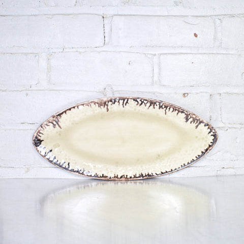 Medium Oval Tray in Parchment by Alice Goldsmith