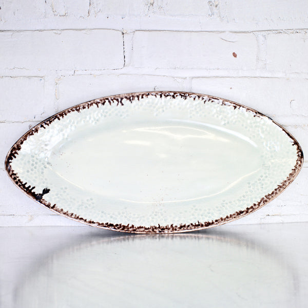 Large Oval Tray in Celadon by Alice Goldsmith