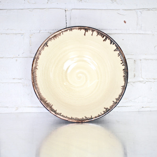 "10"" Bowl in Parchment by Alice Goldsmith"