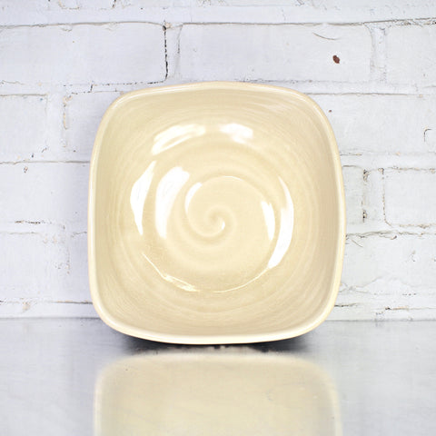 Large Square Bowl in Parchment by Alice Goldsmith