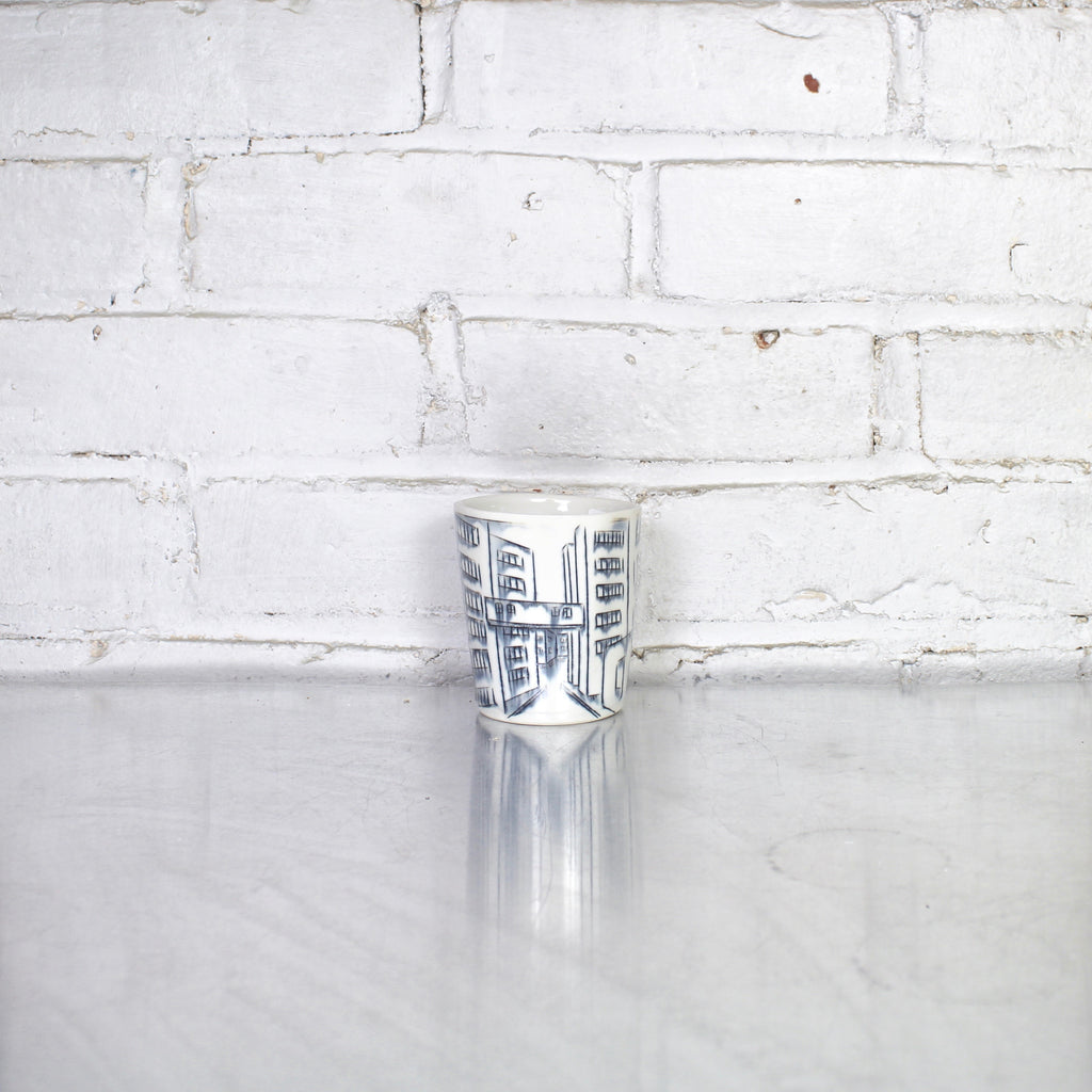 Boston City Scape Whiskey Cup by Nicole Aquillano