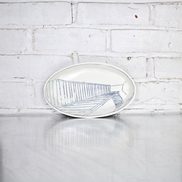 Stair Case Large Oval Platter by Nicole Aquillano