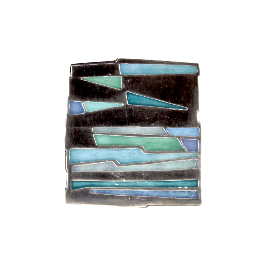 Square Enamel Pin by Carly Wright