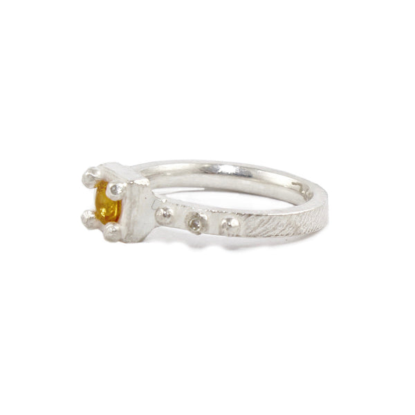 Unearthed Ring with Yellow Sapphire and Diamonds by Dahlia Kanner