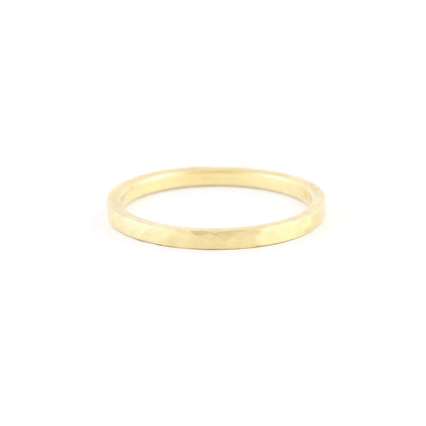 Linear Hammered Gold Band by EC Design - Fire Opal - 1