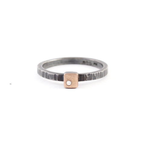Stackable Cell Ring by EC Design - Fire Opal - 1