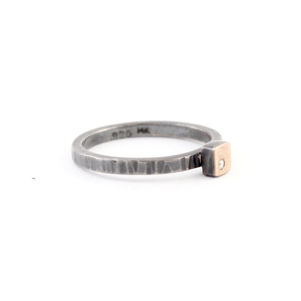 Stackable Cell Ring by EC Design - Fire Opal - 2