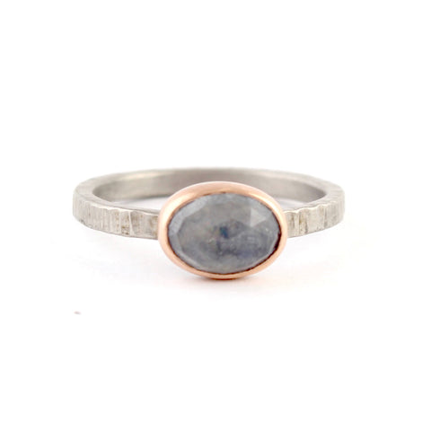 Light Blue Sapphire Ring by EC Design