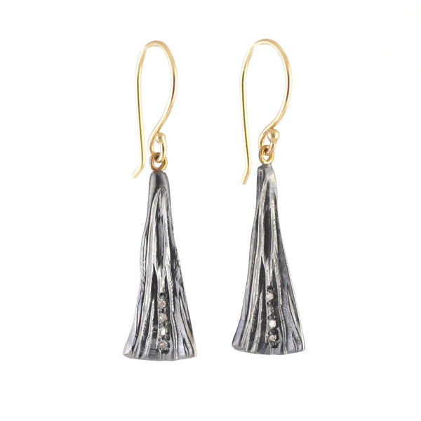 Tapered Cone Earrings by Rebecca Overmann - Fire Opal - 1