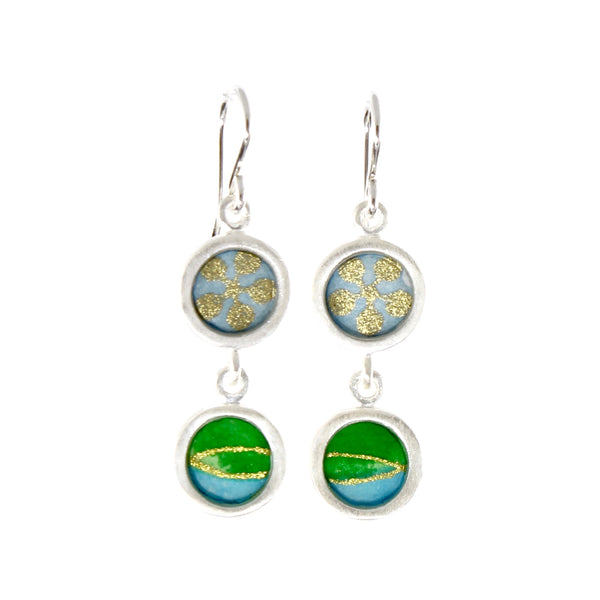 Double Drop Earrings by Susan Fleming