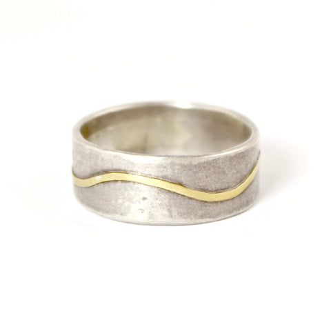Wide Wave Sterling Silver Band by Regina Imbsweiler