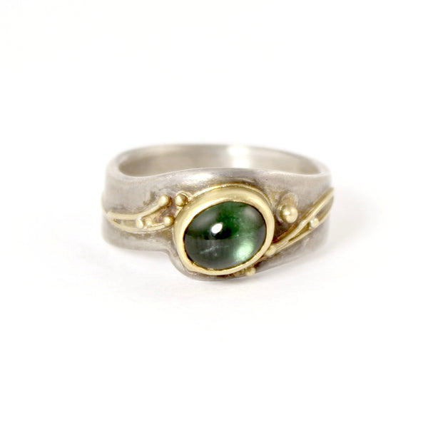 Blue-Green Tourmaline Ring by Regina Imbsweiler