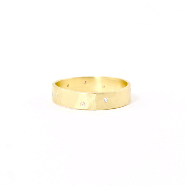 18k Gold Scatter Band by Sarah Mcguire