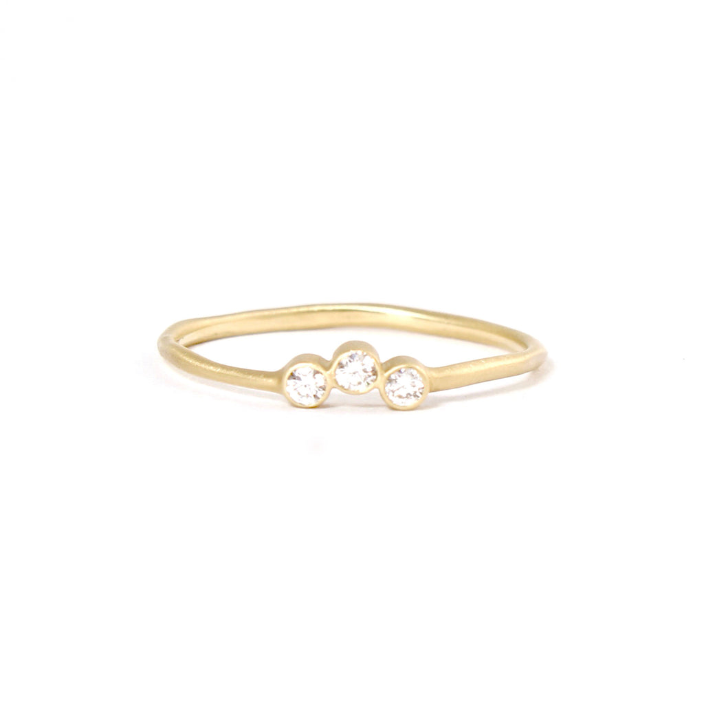 Triple Diamond Ring by Rebecca Overmann