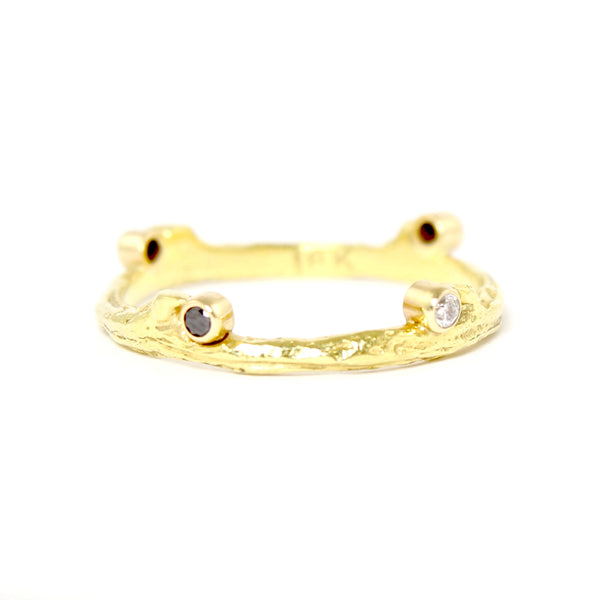 SALE! Hemp Ring in Yellow Gold by Sarah Graham