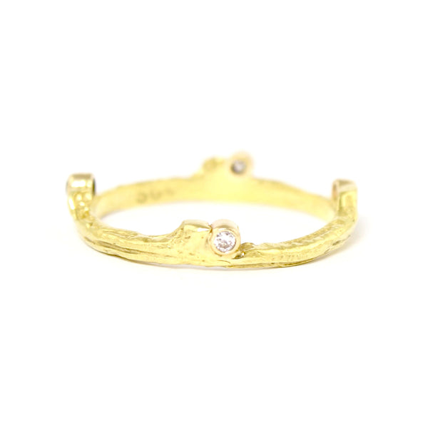 Hemp Ring in Yellow Gold by Sarah Graham