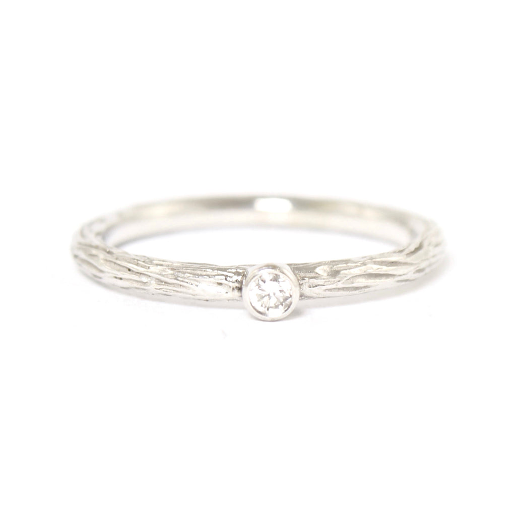SALE! White Diamond Pebble Ring in White Gold by Sarah Graham