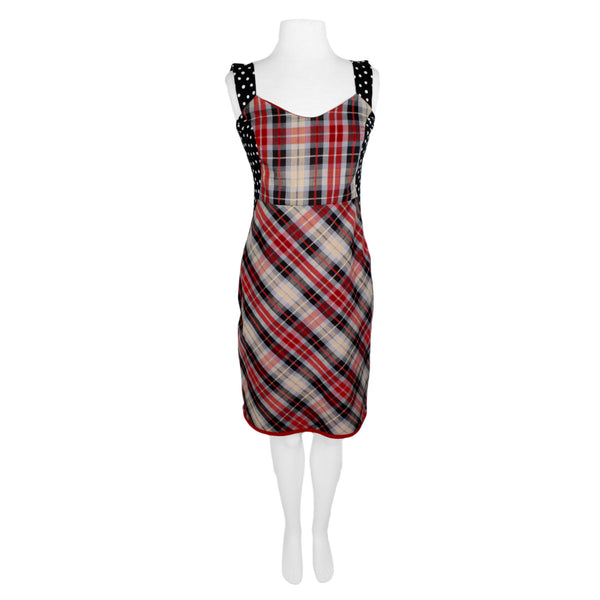 SALE! Houdini Dress in Rose Rojo Plaid by Aimee G