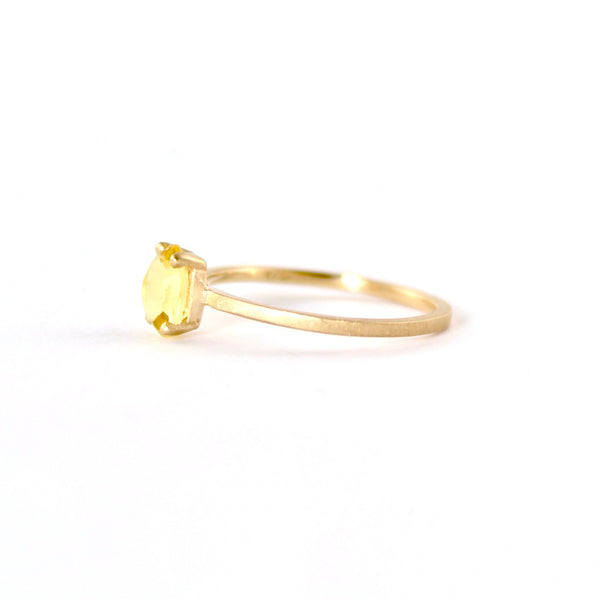Stacking Stone with Golden Beryl Ring by Dawes Designs